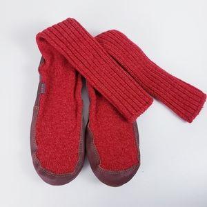 Acorn Long Slipper Socks Size 10.5-11.5